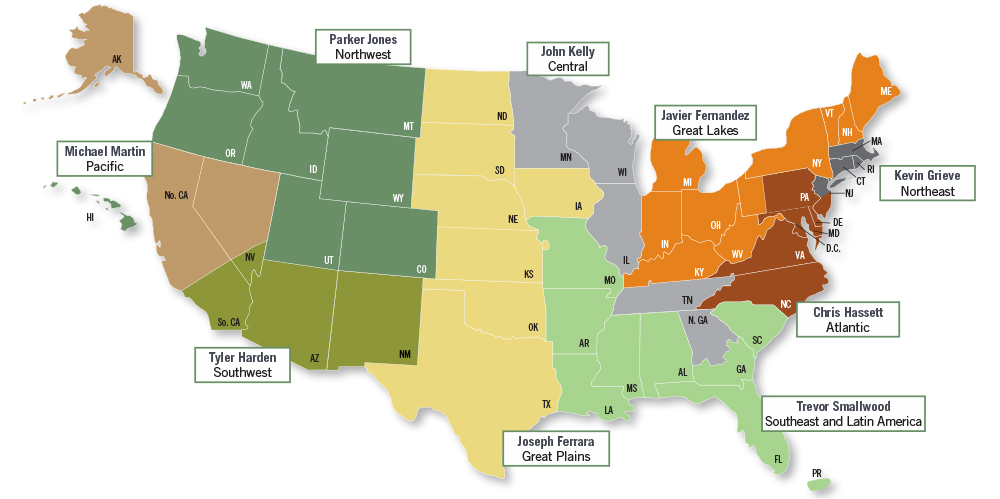 Regional Director Map - Brandes Private Client Services